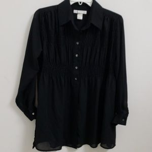 ❤THE LIMITED TOP- BUTTON DOWN, SHEER. SIZE XS